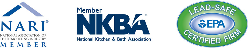 Our Certifications include the NARI, NKBA, and EPA